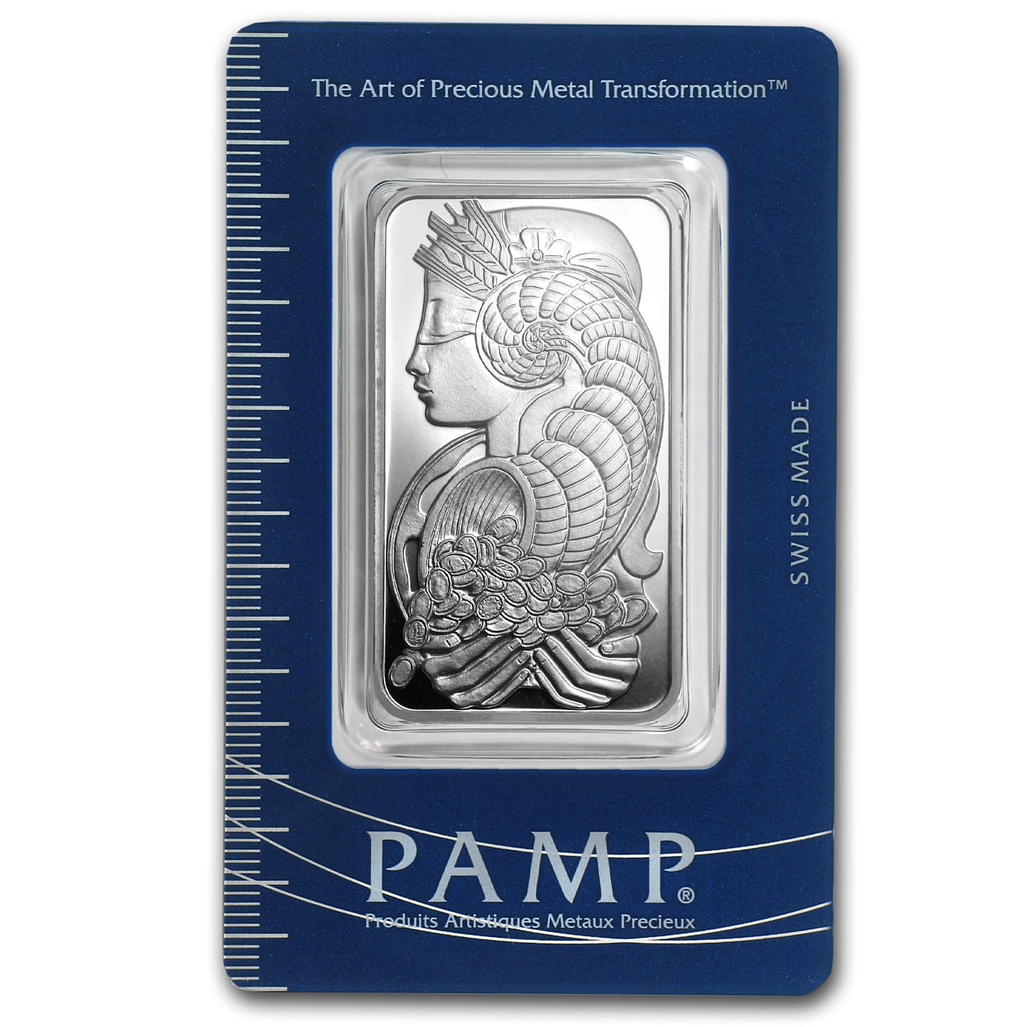 1 oz Silver Bar - PAMP Suisse (Fortuna, In Assay)
